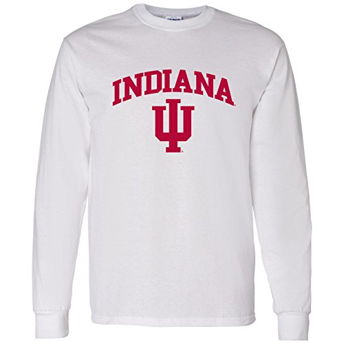 UGP Campus Apparel AL03 - Indiana Hoosiers Arch Logo Long Sleeve - Small - ()