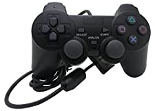 NEXiLUX PS2 Controller for Sony PlayStation 2 & PS1 / PSONE , BLACK