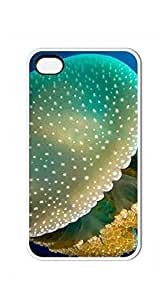 TUTU158600 Good Vibes Unique Fashion Printing Phone case iphone 4s cheap - White spotted jellyfish