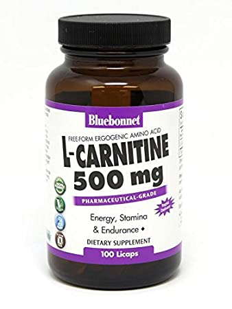 Amazon.com: Bluebonnet L-CARNITINE 500 mg cápsulas líquido ...