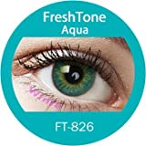 Women Multi-Color Cute Charm and Attractive Fashion Contact Lenses Cosmetic Makeup Eye Shadow Aqua 2 with case by Dream TM