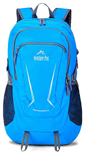 Venture Pal Large 45L Hiking Backpack - Packable Lightweight Travel Backpack Daypack for Women Men (Blue)