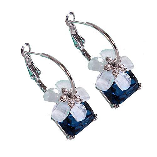 Korean Earrings Exaggerated Atmosphere Trend Temperament Fashion Ear Jewelry Crystal Cherry Earrings Earr