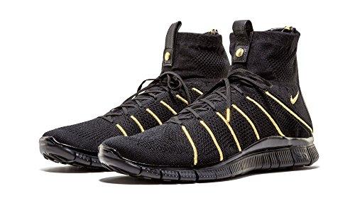 Nike Mens Free Fk Mercurial Qs Lion Sneakers Nero (nero / Nero Metallizzato Oro)
