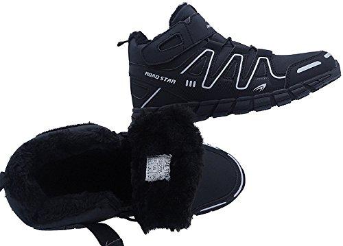Herren Warmfutter Stiefel Sneaker Schuhe Sportschuhe Gr.47-49 Art- Nr.20191 Schwarz-Weiß