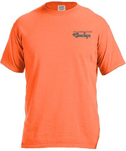 (NCAA Oklahoma State Cowboys Women's Laces & Bows Color Short Sleeve T-Shirt, Large,BurntOrange)