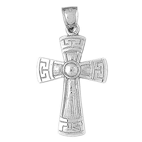 Cross Pendant - 42 mm (14k White Gold Greek Cross)