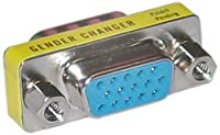 Offex OF-31H1-05400 SVGA Mini Gender Changer/Coupler for PC, HD15 Female to HD15 Female