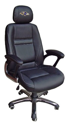 NFL Baltimore Ravens Leather Office Chair