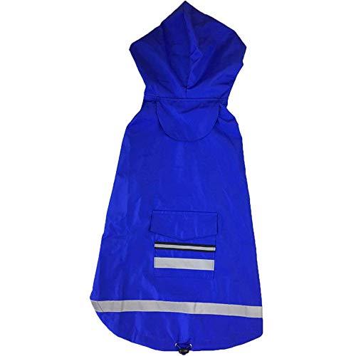 Jdogayncat Pet Clothing, Large Dog Golden Retriever Dog with Reflective Strip Double Waterproof Raincoat, Blue Red Yellow Dog -