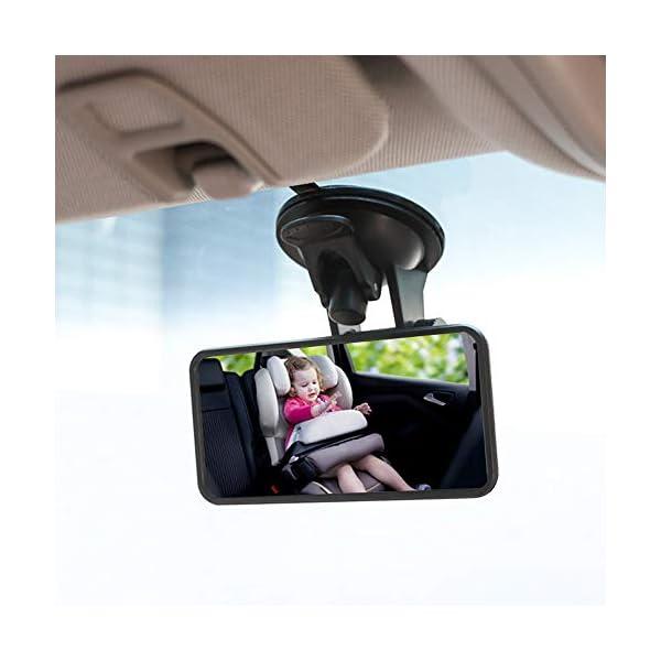 SunTop Specchio Auto Bambino Baby Bambino Vista Posteriore Specchio, specchietto retrovisore Bambino,Specchio per Auto… 7