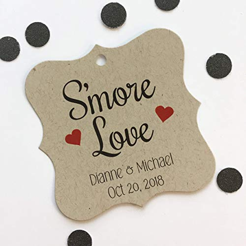 S'more Love Kraft Wedding Favor Hang Tags (FS-076-KR)]()