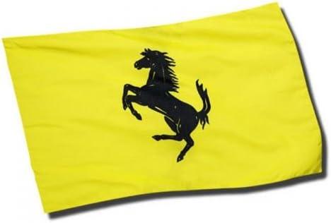 Ferrari Flagge Gelb Yellow Flag Prancing Horse Black Auto