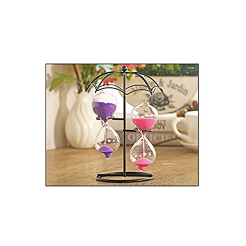 HENGT Hourglass, Small Umbrella Style Design Style, Affordable Two Hourglass, Suitable for Desktop Decoration (Blue Color, Etc, 1710cm/6.84 Inches) Note: Random Delivery Toy Home Office Table Decor