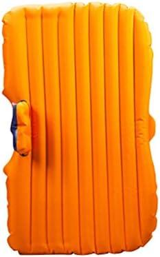 車用ベッド 車のエアベッド旅行と睡眠の休息(エアベッド×1、車のエアーポンプ×1、枕×2)のための多機能旅行キャンプ車の後部シートインフレータブルマットレス (色 : Orange)