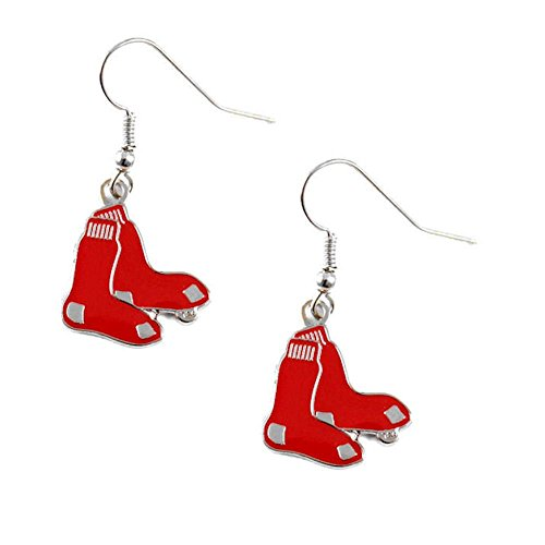 Earrings Sox Dangle (Boston Red Sox Dangle Earrings)