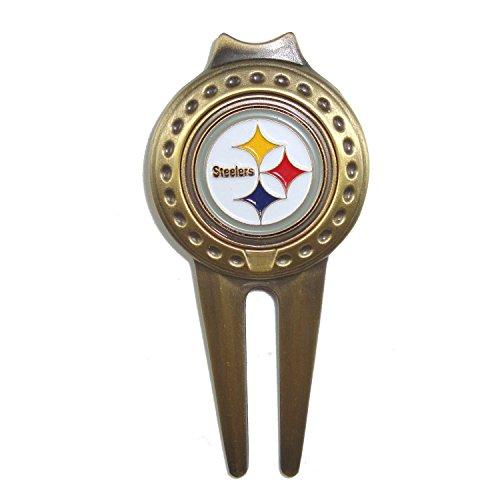 Cap Golf Tool Divot Ball (Pittsburgh Steelers Golf Divot Tool with Golf Ball Marker)