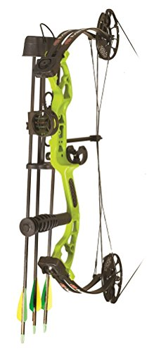 PSE Archery, Mini Burner Compound Bow, Lime Green, Right Hand, 40#