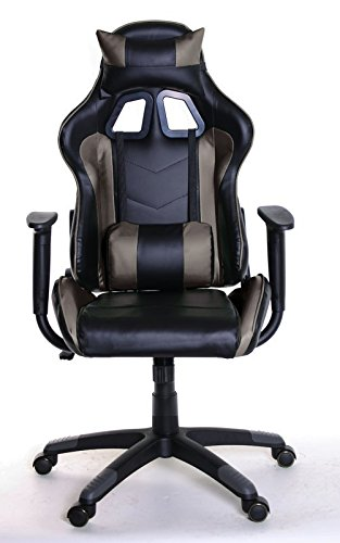 41djJyQNLtL - Adjustable-Reclining-Racing-Gaming-Chair-with-Backrest-Removable-Headrest-Pillow-and-Lumbar-Cushion-Free-Ebook-BlackBrown