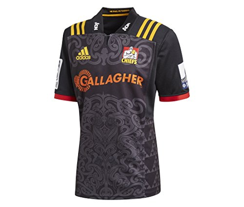 adidas Chiefs 2018 Mens Home Replica Super Rugby Jersey Shirt Black/Yellow - ()