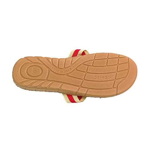 Flops Slippers Floor Beach House HRFEER Sandals Women Men Women Slipper Flip Linen Silent Shoes for Red IH4w6x