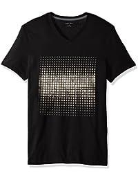 Men's Short Sleeve Foil Logo V-Neck T-Shirt