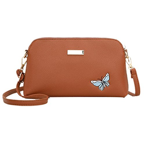 Butterfly Shoulder Single Shoulder Bags Embroidered Pure Bag Mamum Women Messenger Pure Women Brown Fashion Butterfly Ladies Bag Mamum Embroidery Ladies Bag Color Girls Color Bag Girls qEtwH