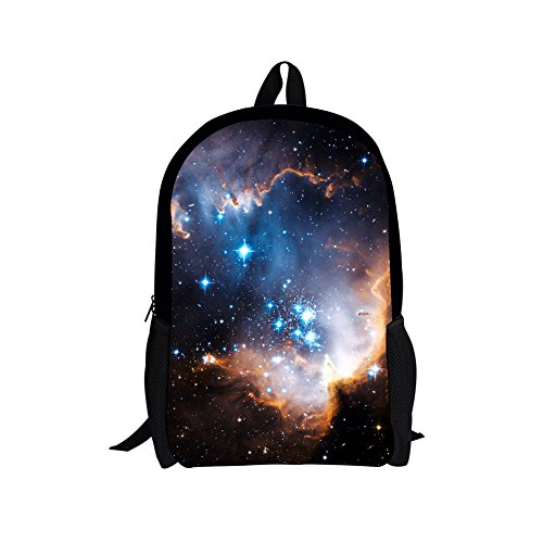 UNICEU Kids Backpack Junior Galaxy Star Teenage Girls School Bags for Hiking Sports (Galaxy Brands Bag)