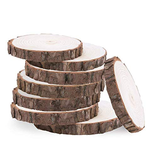 Wedding Diy Projects (Natural Pine Wood Slabs Untreated 5-6 inches Diameter x 3/5