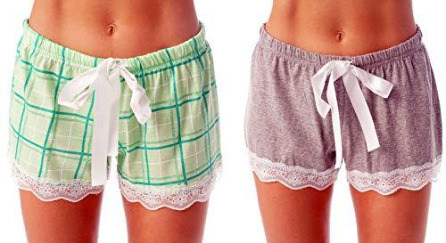 Just Love Womans Pajamas Shorts PJs Sleepwear (Pack of 2) 6334-10281-MNT-3X ()