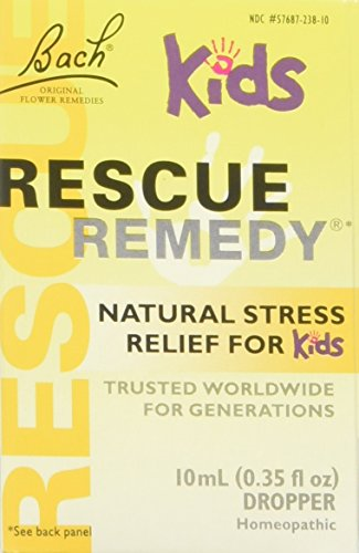 Bach Kids Rescue Remedy Natural Stress Relief Drops, 10 ml. 2 pack