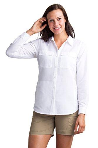 ExOfficio Women's Rotova Long Sleeve, White, Medium
