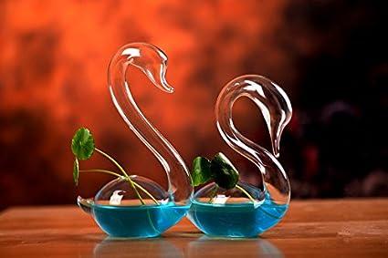 Amazon Newdreamworlds Hand Blown Glass Swan Clear Bud Vase Or
