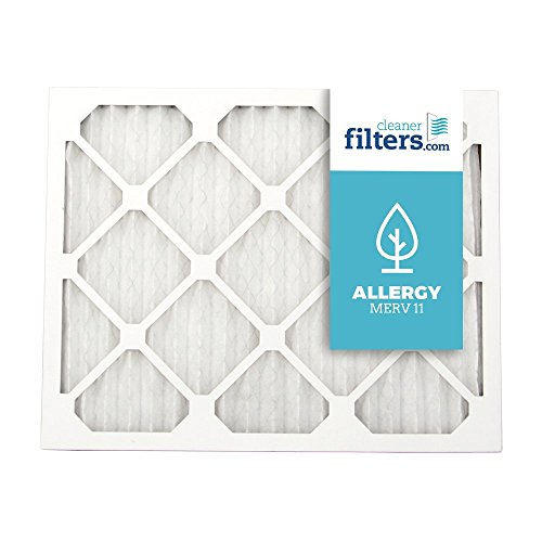 Cleaner Filters 16x25x1 Air Filter, Pleated High Efficiency Allergy Furnace Filters for Home or Office with MERV 11 Rating (1 Pack)