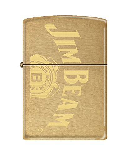 Zippo Brushed Brass - Zippo Jim Beam Brushed Brass Pocket Lighter