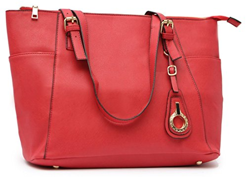 Try To Keep Up Faux Leather Tote Bag (red) Hbg101624r