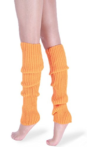(*daisysboutique* Retro Unisex Adult Junior Ribbed Knitted Leg Warmers (One Size,)
