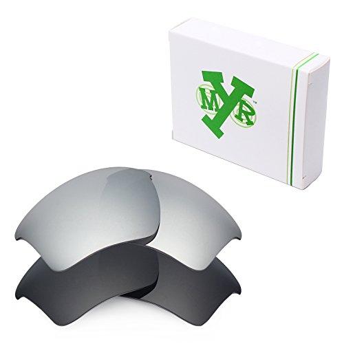 Mryok 2 Pair Polarized Replacement Lenses for Oakley Half Jacket 2.0 XL Sunglass - - Polarize Shield