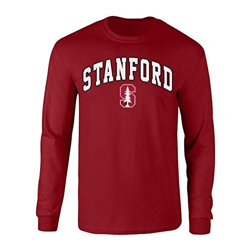 Stanford University T-shirt - Elite Fan Shop Stanford Cardinals Long Sleeve Tshirt Arch Cardinal - L