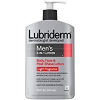 Lubriderm Men's 3-In-1 Lotion Enriched with Soothing Aloe for Body and Face