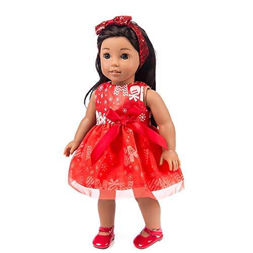 Bunk Bed Package - weijij Mini Cute Christmas Clothes Dress for 18 Inch American Doll Accessory Boy Girl Toy Dress Clothing Set Learning Develop Intelligence Skills Educational Cheap (Red)