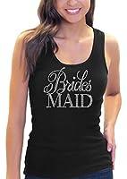 Flirty Bridesmaid Women's Rhinestone Script Tank Top By RhinestoneSash.com