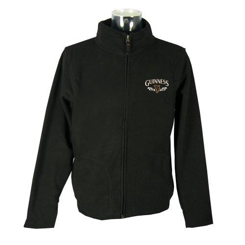 Guinness Black Harp Trade Mark Fleece Jacket X-Large (Clothing Guinness)