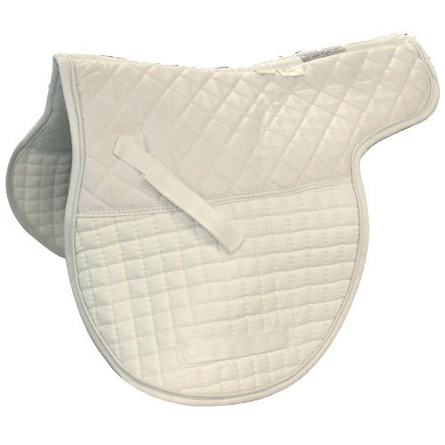 Intrepid International Shaped Quilted Double Back All Purpose Saddle Pad, White Double Fleece Saddle Pads