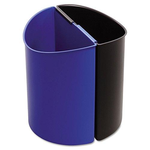 Deskside Recycling Receptacle - Safco 9927BB Desk-Side Recycling Receptacle 3gal Black and Blue