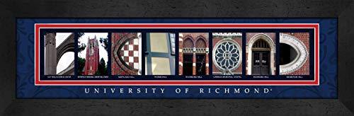 Bold Border Big (Prints Charming Letter Art Framed Print, U of Richmond-Richmond, Bold Color Border)
