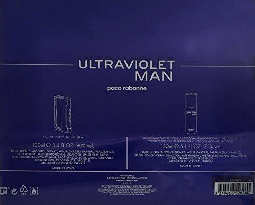Paco Rabanne Ultraviolet Man Eau de Toilette 2 Piece Gift Set for Men