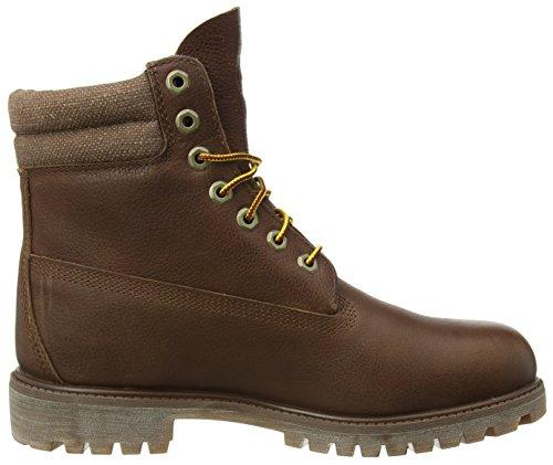 Timberland 6 In Klassieke Boot_6 In Dubbele Kraag Laars Mannen Korte Laarzen Bruin (bruin Fg Met Canvas)
