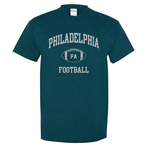 - Philadelphia Classic Football Arch Basic Cotton T-Shirt - Small - Midnight