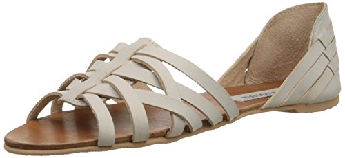 Steve Madden Women's Flute Huarache Sandal, Bone Leather, 8 M US